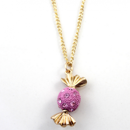 Pink Candy Pendant Embellished with..