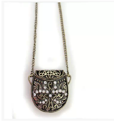 chain diamond gold necklace pendant on cable purse white necklaces