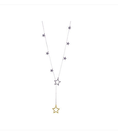 Stars Drop Long Necklace