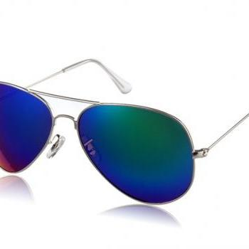Unisex Sunglasses with Alloy Frame (Blue)