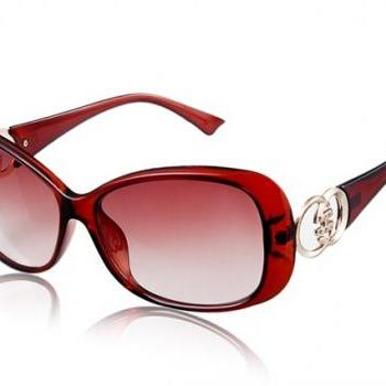 1066-C41 Women's UV Protection Sunglasses (Burgundy)
