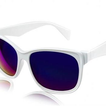 Kadishu 89213 Unisex Stylish Sunglasses (White)